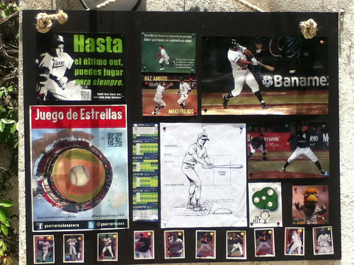 Baseball Foamboard: Trading Cards, Fan Art, Calendar and Social Responsibility Campaign @ Oaxaca 04.2013