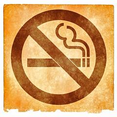 No Smoking Grunge Sign - Sepia