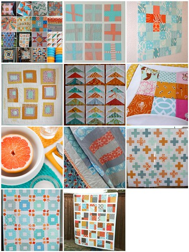 Orange and Aqua Mosaic