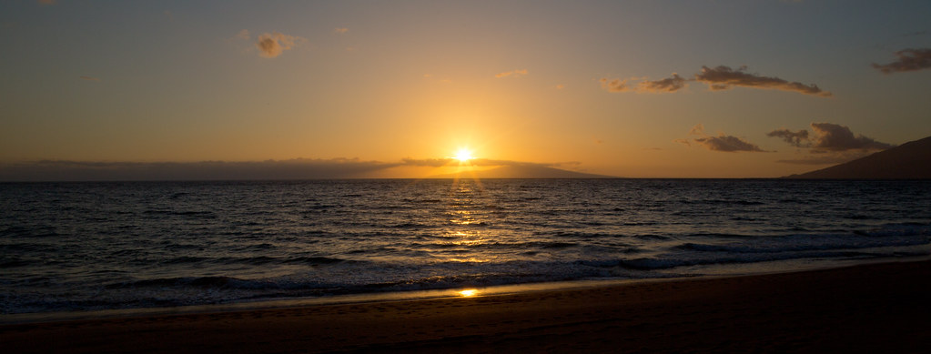 Mokapu Beach Sunset Maui Hawaiian