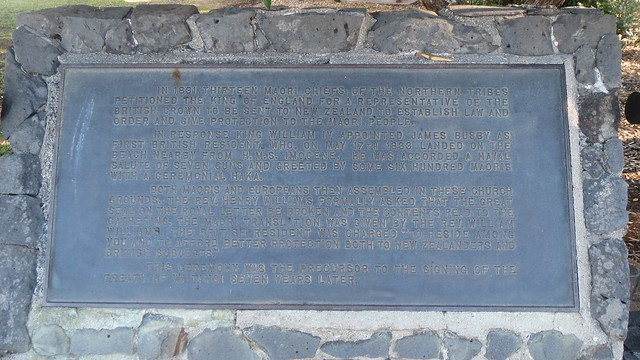 Memorial plaque at St. Paul's Anglican Church, Paihia