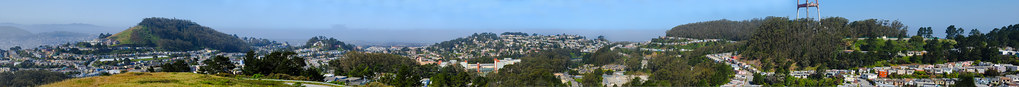 mt. davidson to mt. sutro panorama