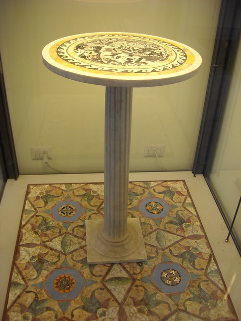 Small marble table from Pompeii (79 AD) - Naples Archaeological Museum