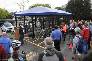 Daimler bike shelter opening-24