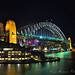 Colorful Sydney Harbour Bridge by Night 3