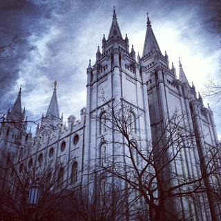 Image of Salt Lake Temple. travel clouds temple day cloudy saltlakecity mormon slc lds saltlaketemple