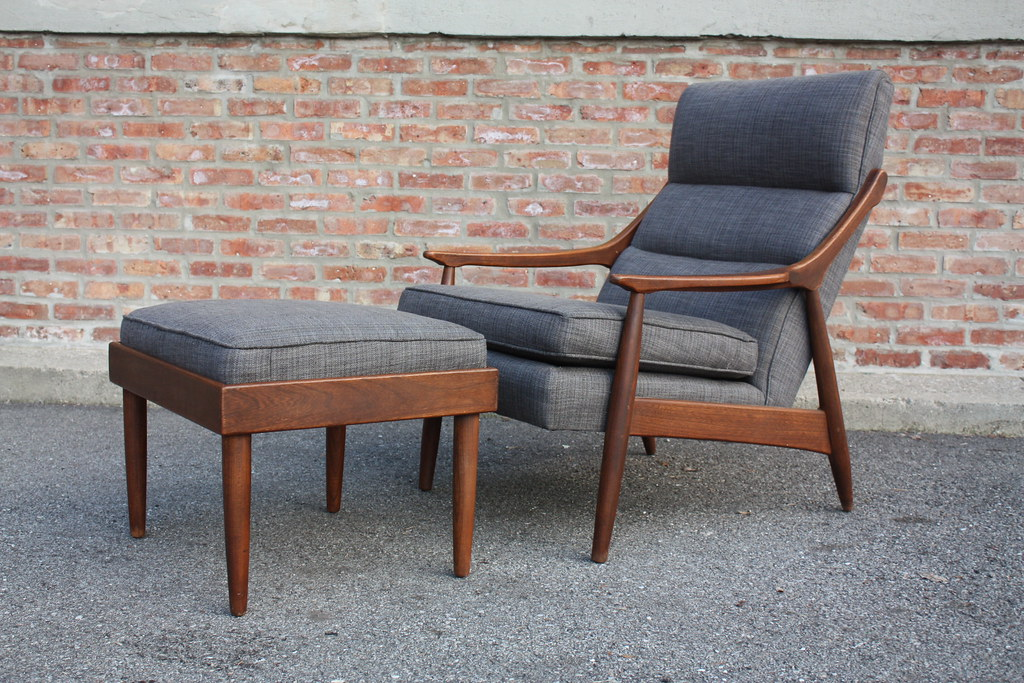 Perfect Mid Century Modern Lounge Chair Ottoman U S A Flickr