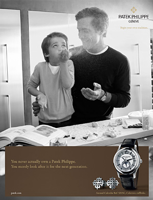 Patek Philippe advert