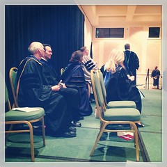SBL Dean and Faculty await grads for hooding and anointing.
