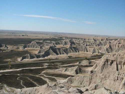 The Badlands from above Saddle Pass, Badlands National Park, South Dakota