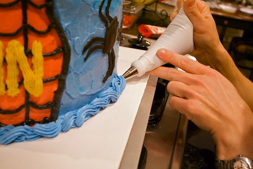 Spiderman Cake Assembly