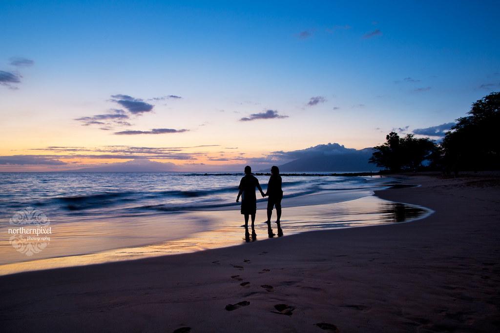 Ulua Beach Sunset Silhouette