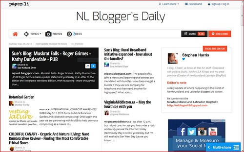 NL Blogger's Daily - May 5 2013 vm