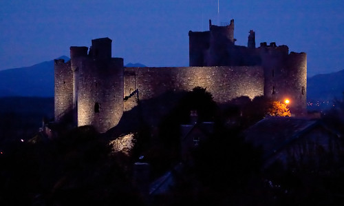 HARLECH CASTLE AT DUSK