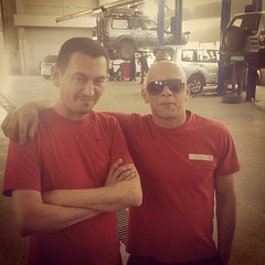 My mechanics - The Manager and Vin Diesel