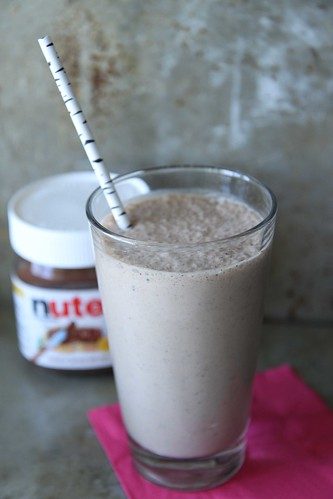Nutella, Espresso and Banana Smoothie