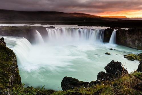 island is waterfall iceland europa europe wasserfall arctic nordic cascade islande godafoss goã°afoss