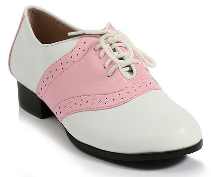 pink saddle shoes