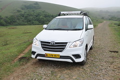 That's our Innova- a little too large for a solo passenger!