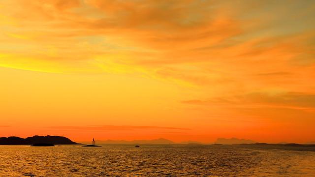 Solnedgang i Brosmeosen juni -16