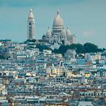 A lo lejos Sacré-Coeur. París.