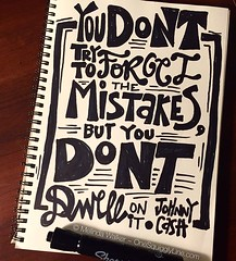 Quick scribbly quote - especially great advice when drawing with permanent marker! #quotes #johnnycash https://t.co/nku779MMO2