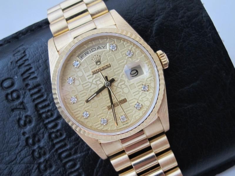 Bán đồng hồ rolex day date 5 số 18238 – mặt vi tính xoàn – size 36mm