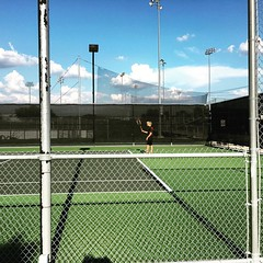 Gage's JV tennis match Vs. Cleburne about to start!