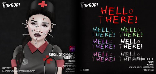 The Horror!~ Cured & Hell(o) (T)here! Sign @ Nightmare