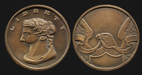 Abbreviated Liberty medal