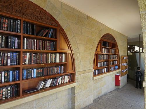 Bookcases on men's side