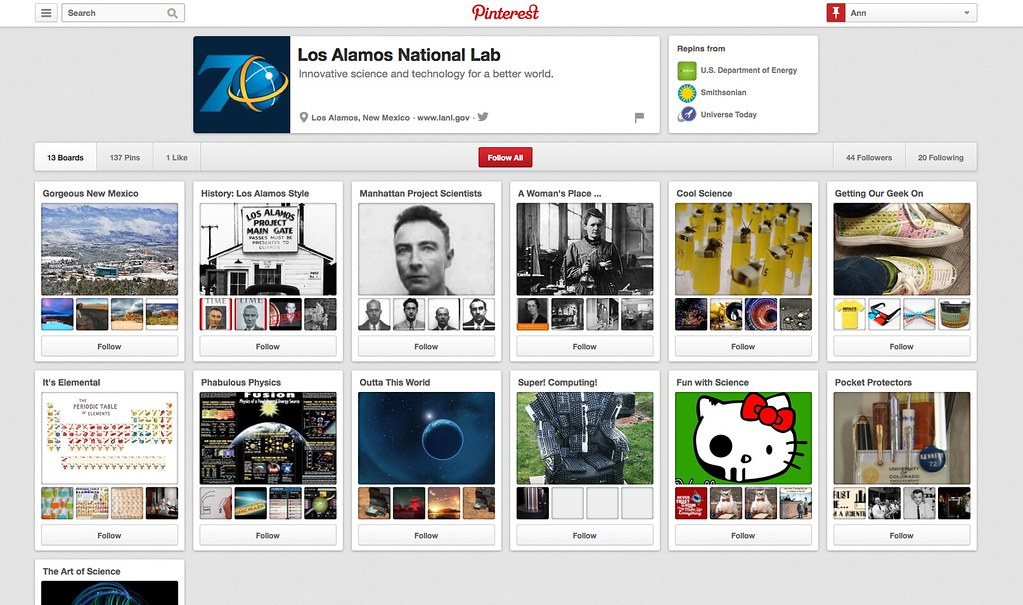The Lab's Pinterest site
