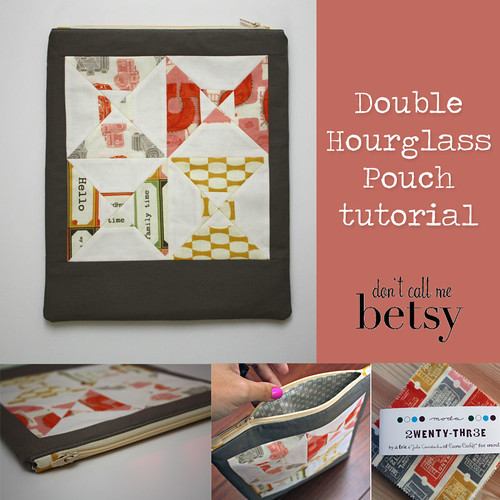 Double Hourglass Pouch tutorial - live on the blog today as part of Charm Madness