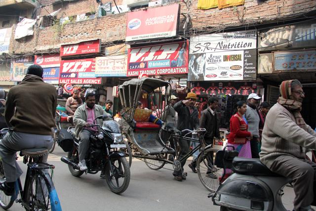 The lively streets of Varanasi, India