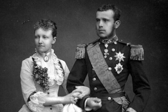 Crown Prince Rudolf of Austria-Hungary with Princess Stefanie