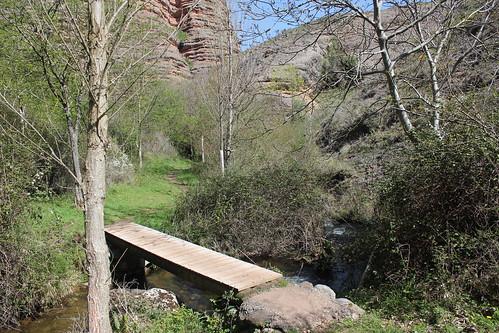 Pasarelas El salto del agua Matute La Rioja