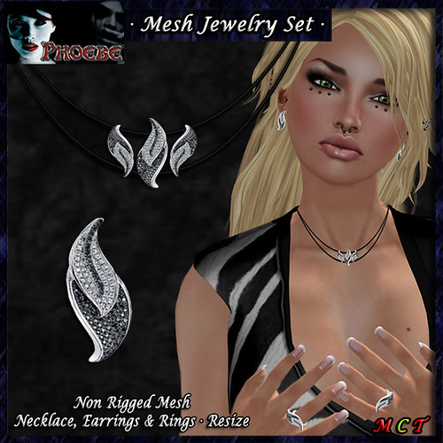 *P* Leaves Mesh Jewelry Set