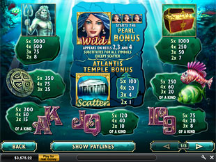 free Atlantis Queen slot mini symbol