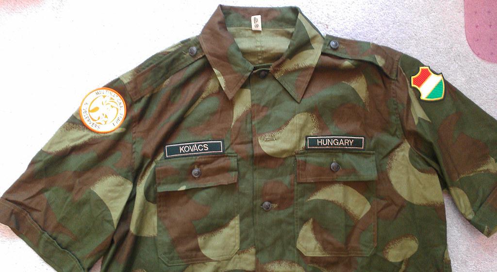 "Hungarian ""'Hurrikán"" pattern peacekeepers short sleeve shirt 8668818324_5698da3a64_b"