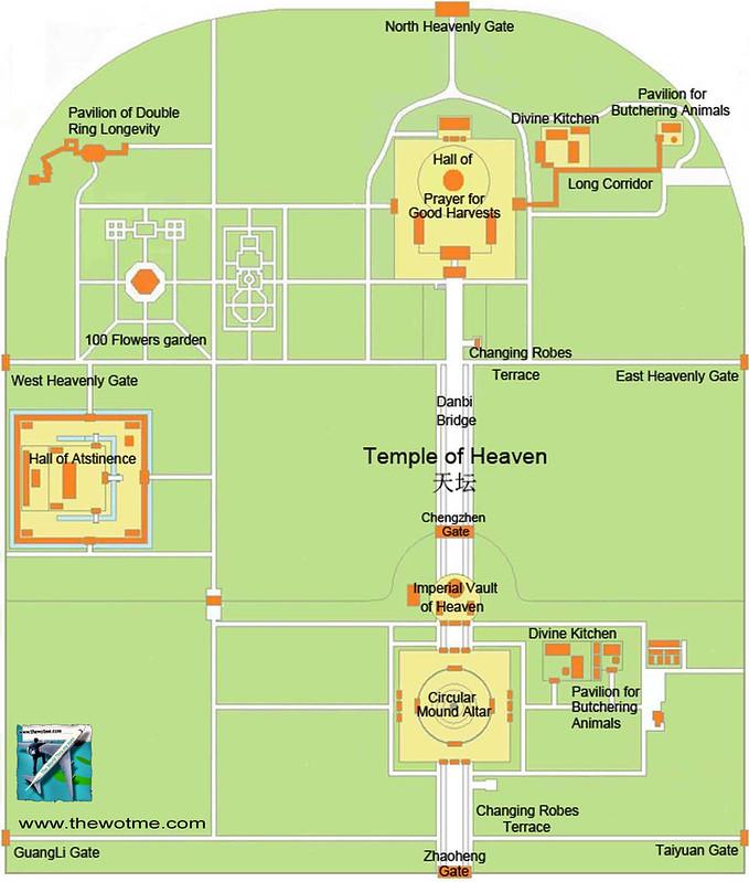 Mapa del recinto y complejo religioso del templo del Cielo, 2,67 millones de metros cuadrados. Templo del Cielo de Pekín, perfección entre tierra y cosmos - 8669003032 cc179a5096 c - Templo del Cielo de Pekín, perfección entre tierra y cosmos