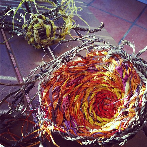 We did basket weaving yesterday at Northey Street City Farm, so much fun!
