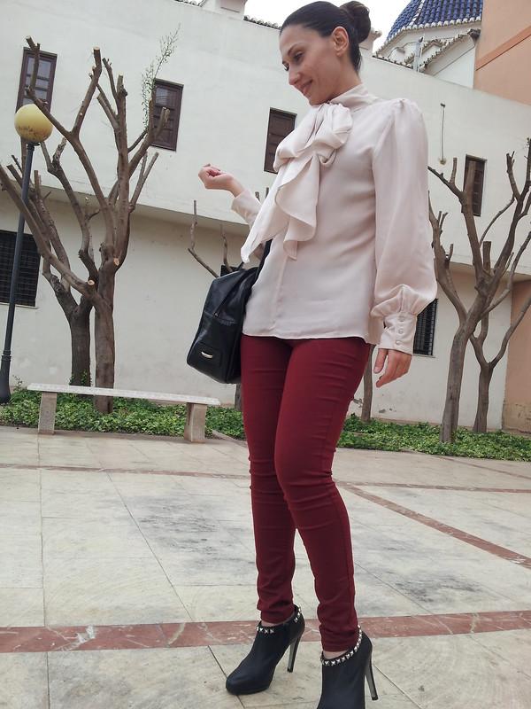 burgundy, rosa emplovado, tachuelas, low cost