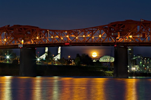 Full Moon under the Bridge