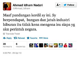 idham twitt