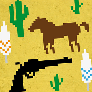 Western pixel illustration