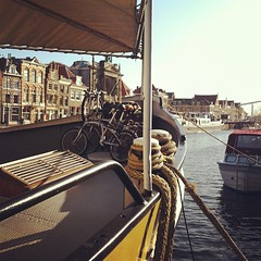 Good morning from our houseboat in Haarlem :-)