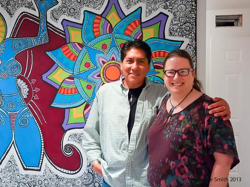 Me with Jemez Pueblo artist John Toya