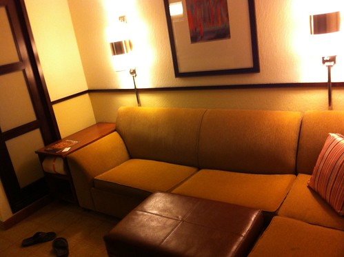 Obligatory hotel room shot.
