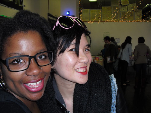 Joyce Hatton and Mimi Thi Nguyen at Midwest Zine Fest  2013