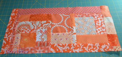 sunday morning quilts beeorange slab for tessophia